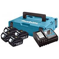 Набор аккумуляторов LXT (BL1830Bx4, DC18RC, Makpac (197954-1)
