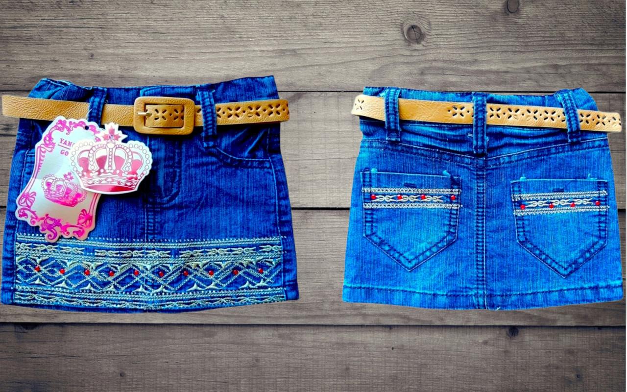 Детская джинсовая юбка Принцесса