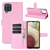 Чехол Fiji Luxury для Samsung Galaxy M12 (M127) книжка светло-розовый