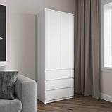 Шкаф для одежды на 3 выдвижных ящика c полками, фасады без ручек R-16, фото 2