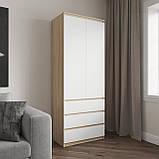 Шкаф для одежды на 3 выдвижных ящика c полками, фасады без ручек R-16, фото 3