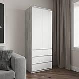Шкаф для одежды на 3 выдвижных ящика c полками, фасады без ручек R-16, фото 8