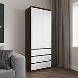 Шкаф для одежды на 3 выдвижных ящика c полками, фасады без ручек R-16, фото 5