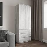 Шкаф для одежды на 3 выдвижных ящика c полками, фасады без ручек R-16, фото 7