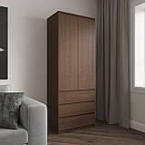 Шкаф для одежды на 3 выдвижных ящика c полками, фасады без ручек R-16, фото 10
