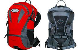 """Велорюкзак """"Velocity 20"""" 420D Polyester Ballistic, 1680D Nylon FTX TM, ((червоний/сірий))"""