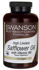 Swanson Safflower Oil with Vitamin B6 High Linoleic Acid, Сафлорова олія з вітаміном Б6 (112 капс.)
