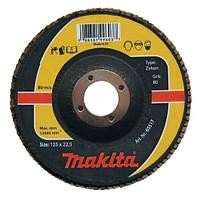 Пелюстковий диск для нержавійки цирконій Makita 115 мм (P-65470)