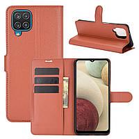 Чехол Fiji Luxury для Samsung Galaxy M12 (M127) книжка коричневый