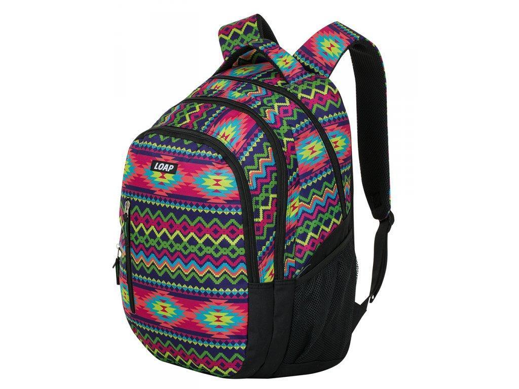 Рюкзак до міста/школи Loap LIAN чорно-салатовий