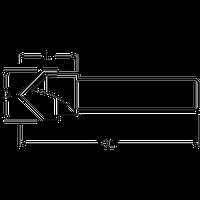 Пазова V-образна фреза TCT Makita (P-79061)