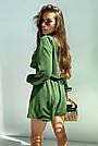 Костюм женский легкий летний шорты и топ зеленый, фото 6