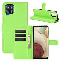 Чехол Fiji Luxury для Samsung Galaxy M12 (M127) книжка зеленый