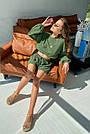Костюм женский легкий летний шорты и топ зеленый, фото 7