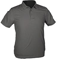 Тактическая потоотводящая футболка-поло Mil-tec Coolmax серая
