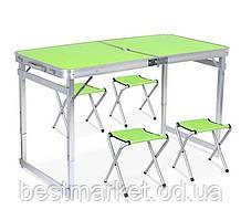 Стіл Посилений Туристичний Розкладний для Пікніка з 4 Стільцями Folding Table
