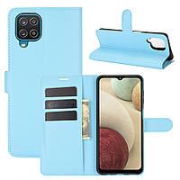 Чехол Fiji Luxury для Samsung Galaxy M12 (M127) книжка голубой
