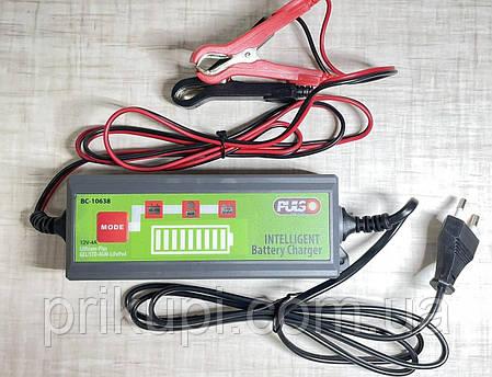 Зарядное устройство импульсное для автомобильного аккумулятора PULSO BC-10638 12V/4.0A/1.2-120AH /LCD, фото 2
