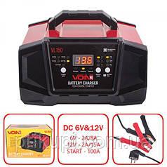 Пуско-зарядное устр-во VOIN VL-150 6-12V/2A-8A-15A/Start-100A/20-180AHR/LCD индик. (VL-150)