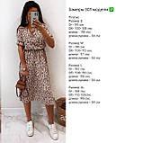 Легкое натуральное платье миди с мелким цветочным принтом, ткань штапель  S,M,L,XL, фото 8
