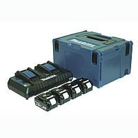 Набор аккумуляторов LXT Makita BL1840x4, DC18RD, Makpac3 (197156-9)