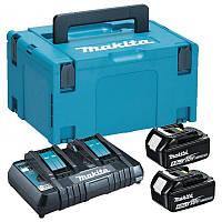 Набор аккумуляторов LXT Makita BL1840Bx2, DC18RD, Makpac3 (197504-2)