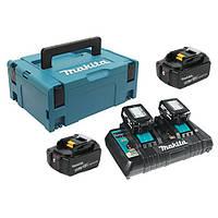 Набір акумуляторів LXT Makita (BL1850Bx4, DC18RD, Makpac3 (197626-8)