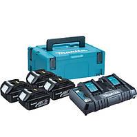 Набір акумуляторів LXT (BL1830Bx4, DC18RD Makpac (197720-6)