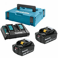 Набор аккумуляторов LXT (BL1860Bx2, DC18RD, Makpac 3(198077-8)