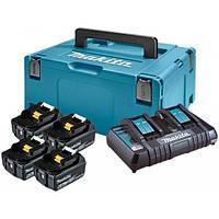 Набір акумуляторів LXT (BL1860Bx4, DC18RD, Makpac 3 (198091-4)