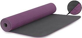 Килимок для йоги Fitforce YOGA MAT 180X61X0,4 см (фіолетовий)