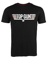 Футболка мужская Mil-tec с принтом ′TOP GUN′ 100% хлопок черная