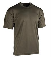 Тактическая потоотводящая футболка Mil-tec Coolmax цвет олива