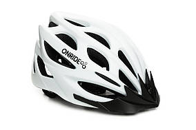Шолом ONRIDE MOUNT white matt  модель MV50, колір козирка Black, колір лого Black ((55 - 58) CM)
