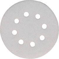 Набір білої шліфувального паперу на липучці 125 мм К180 8 отворів (10 шт.) Makita (P-33392)