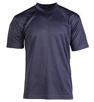 Тактическая потоотводящая футболка Mil-tec Coolmax цвет темно-синий