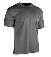 Тактическая потоотводящая футболка Mil-tec Coolmax цвет серый
