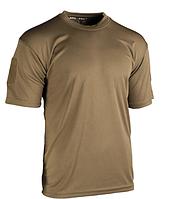 Тактическая потоотводящая футболка Mil-tec Coolmax цвет койот