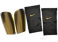 Щитки для футбола SPORTS (черные), держатели (сеточки) NIKE