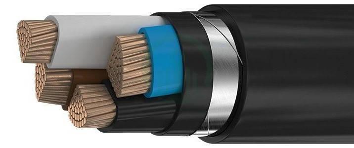 Силовий мідний броньований кабель ВБбШвнг 4*185, фото 2