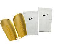 Щитки для футбола SPORTS (белые), держатели(сеточки) NIKE