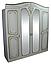 Шкаф Альба (белый супермат) ТМ Неман, фото 3