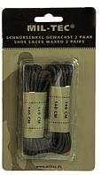 Шнурки вощені Mil-tec чорні 140см, фото 1