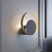 Настенный светильник MJ-Light OREO BK+GD 16003