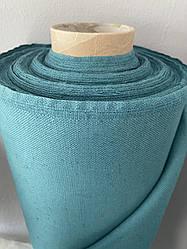 Бирюзовая льняная ткань, LINEN PLUS, 45% лен, 55% хлопок, Плотность 395 г/м2(13497-1/921)