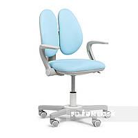 Дитяче ергономічне обертове крісло Fundesk Mente Blue з підлокітниками, фото 1