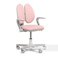 Дитяче ергономічне обертове крісло Fundesk Mente Pink з підлокітниками