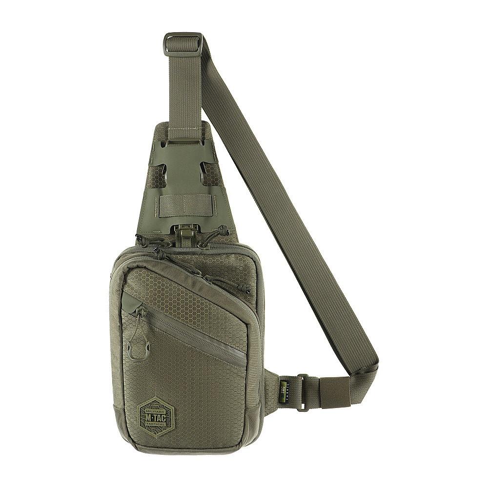 M-Tac однолямочная пістолетна сумка-кобура наплічна коричнева Sling Pistol Bag Elite Hex Ranger Green