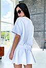 Білий літній костюм спідниця шорти з принтом, фото 6