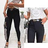 Стильные удобные белые стрейчевые джинсы Skinny с завышенной талией   S,M,L,XL, фото 2